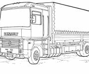Coloring pages Renault truck