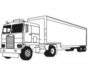 Coloring pages Trailer Truck Online