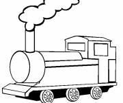 Coloring pages A front view of Steam Train