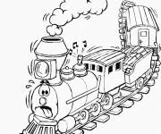 Coloring pages A humorous train