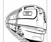 Coloring pages A rolling train
