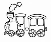 Coloring pages A small toy steam train