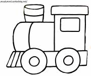 Coloring pages A train to color