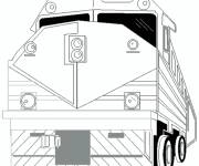 Coloring pages Almighty train