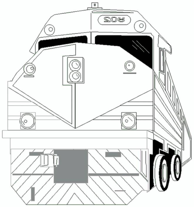Free coloring and drawings Almighty train Coloring page