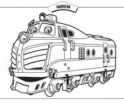 Coloring pages Cartoon harrison train