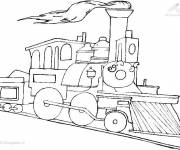 Coloring pages Colored maternal train