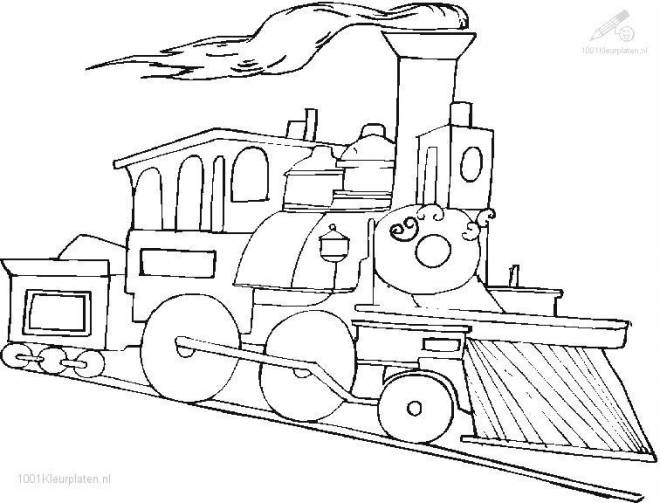 Free coloring and drawings Colored maternal train Coloring page