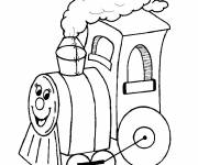 Free coloring and drawings Custom locomotive that smiles Coloring page