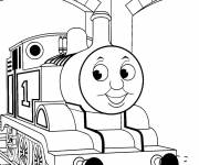 Coloring pages Cute thomas train