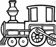Coloring pages Cutting train