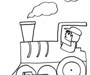 Coloring pages Easy Train Driver