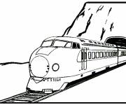 Coloring pages Electric locomotive