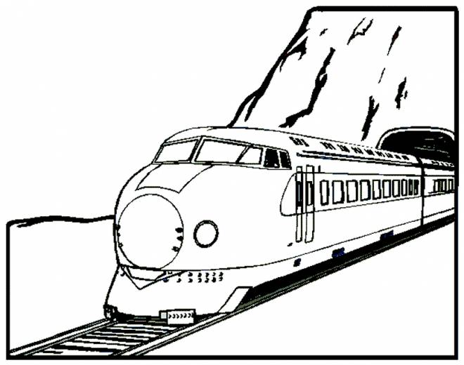 Free coloring and drawings Electric locomotive Coloring page