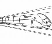 Coloring pages Fast duplex train