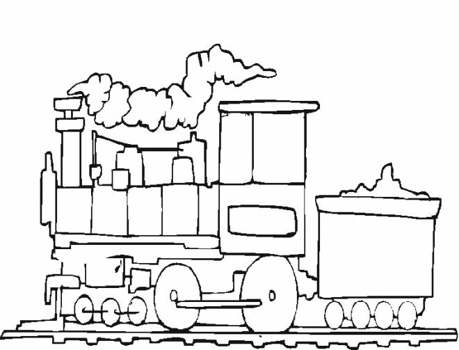 Free coloring and drawings Freight train Coloring page