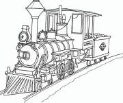 Coloring pages Gorgeous old train