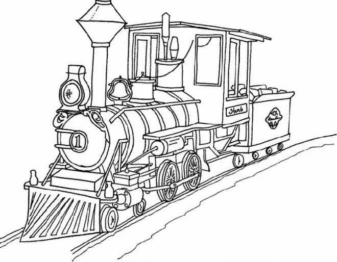 Free coloring and drawings Gorgeous old train Coloring page