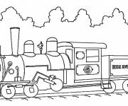 Coloring pages Illustration Train on the way