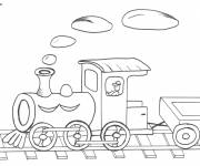 Free coloring and drawings Locomotive for children Coloring page
