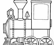 Free coloring and drawings Locomotive who deals with the Wagons Coloring page