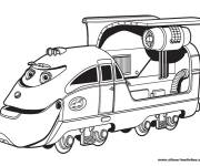 Coloring pages Magic Train Toy