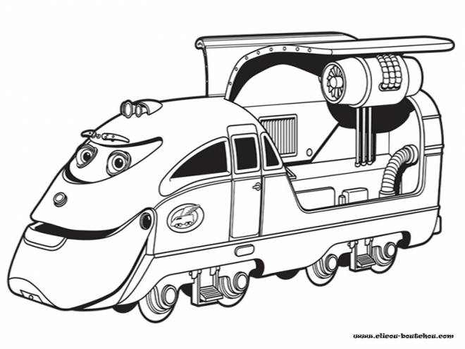 Free coloring and drawings Magic Train Toy Coloring page