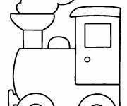 Coloring pages Maternal steam locomotive