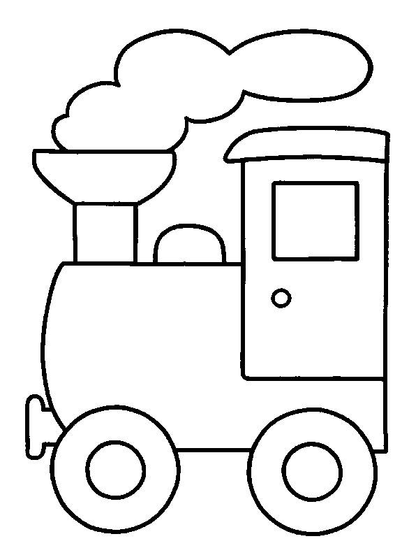 Free coloring and drawings Maternal steam locomotive Coloring page