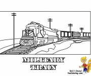 Coloring pages Military locomotive