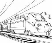 Coloring pages Modern electric train