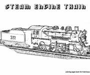 Coloring pages Realistic steam train