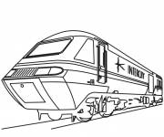 Coloring pages Rolling train