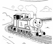 Free coloring and drawings Smiling train Coloring page