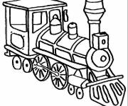 Coloring pages Steam locomotive
