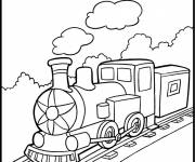 Coloring pages Steam train to print