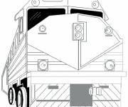 Coloring pages Stylized giant train