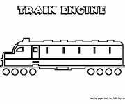 Coloring pages Stylized modern train