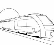 Coloring pages TGV train for adults