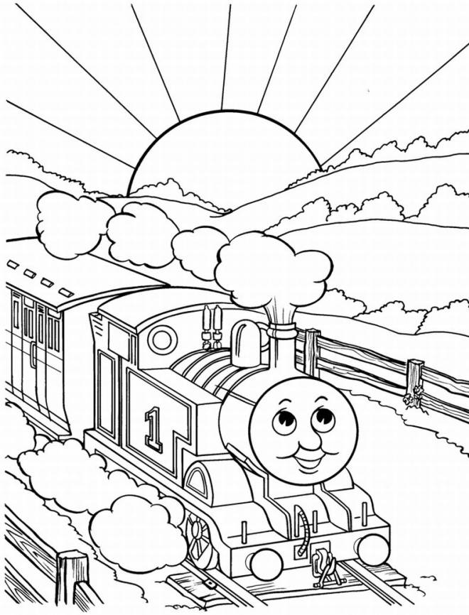 Free coloring and drawings The Magic Train Coloring page