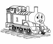 Coloring pages The Thomas Disney Train