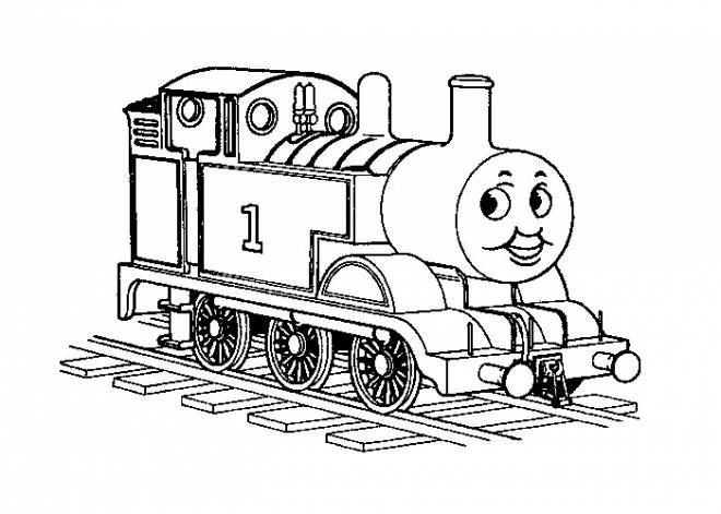 Free coloring and drawings The Thomas Disney Train Coloring page