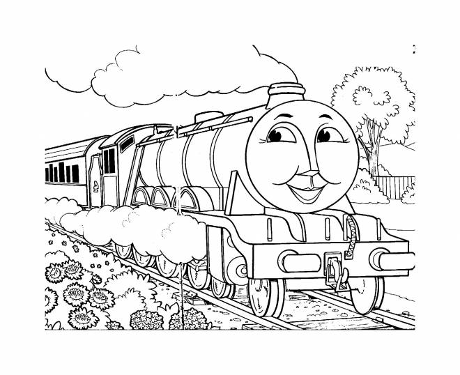Free coloring and drawings Thomas the little train Coloring page