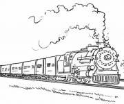 Coloring pages Train and Wagon