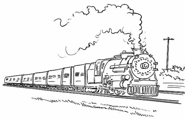 Free coloring and drawings Train and Wagon Coloring page