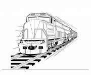 Coloring pages Train in vector