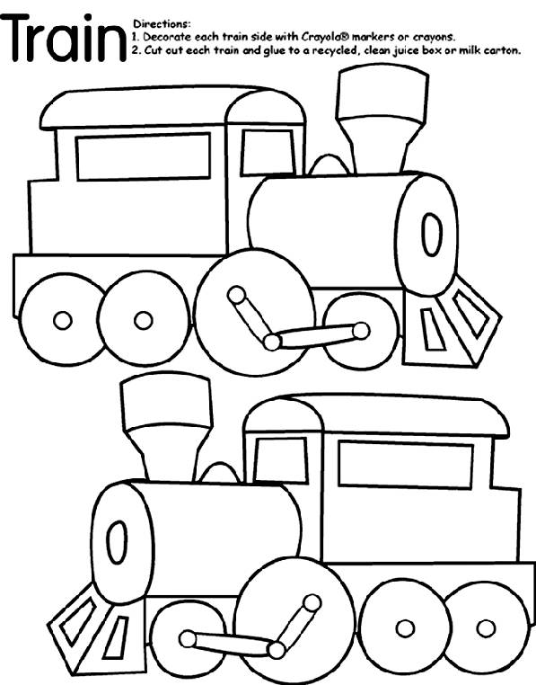 Free coloring and drawings Train Locomotive Decoration Coloring page