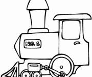 Coloring pages Train locomotive to download