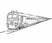Coloring pages Train simple