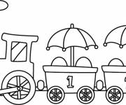 Coloring pages Train that makes you laugh